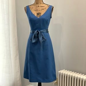 J. Crew dress with satin sash size 6